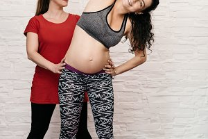 Exercising while pregnant.