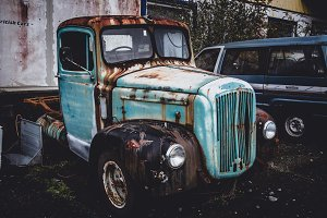 Old rusted abandoned Truck