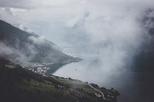 Moody Weather in Fjord Norway
