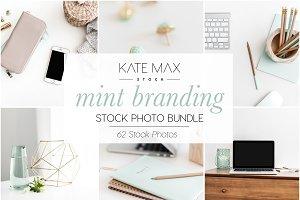 Mint Branding Stock Photo Bundle