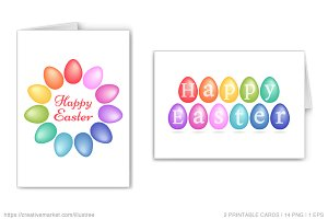 Colorful Easter eggs, vector set