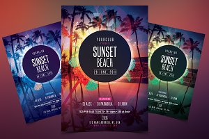Sunset Beach - PSD Flyer Template