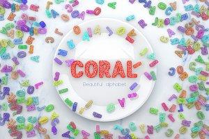 Coral Alphabet