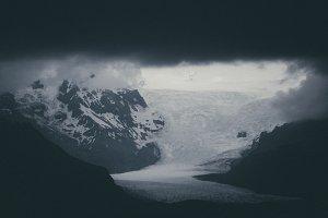 Dark Monochrome Clouds over Iceland