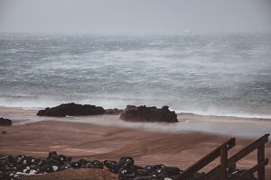 Winter Storm on the Beach