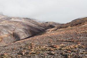 Barren Mountain Landscape in Iceland