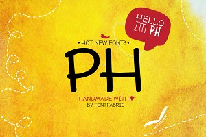 PH - 96 Handmade Fonts