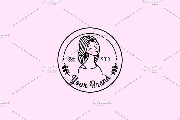 Outline Girl Logo