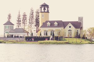 Classic house on the pond
