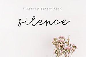 Silence - Modern Script Font