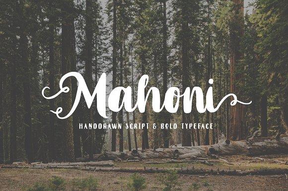 Mahoni Script Bold