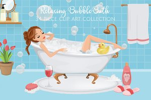 Bubble Bath Illustrations