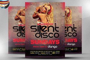 Silent Disco Flyer Template