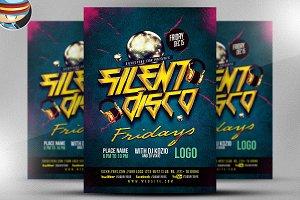 Silent Disco Flyer Template V2