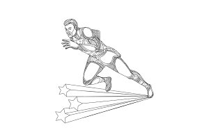 Track and Field Athlete Running Dood