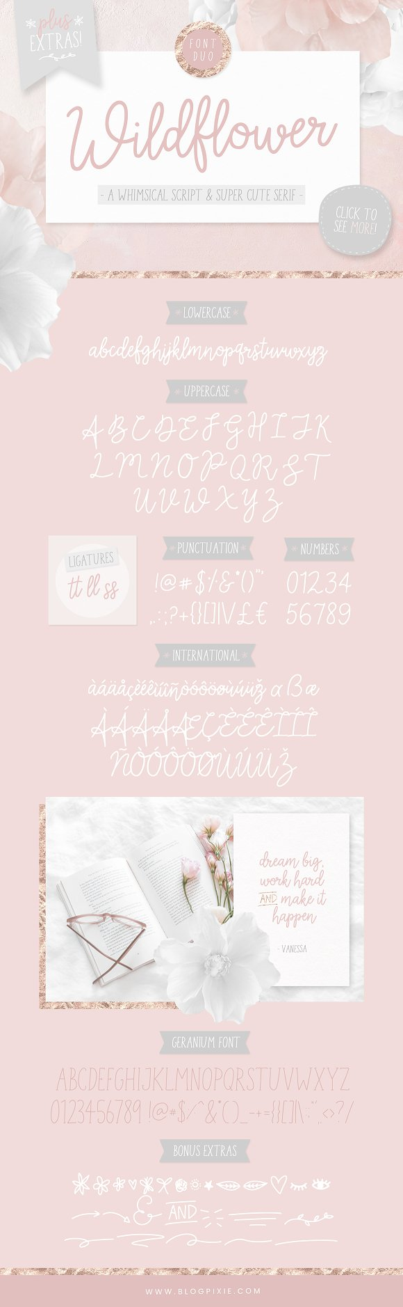 Wildflower Font Duo