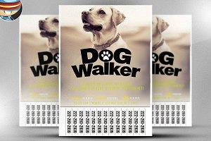Professional Dog Walker Flyer