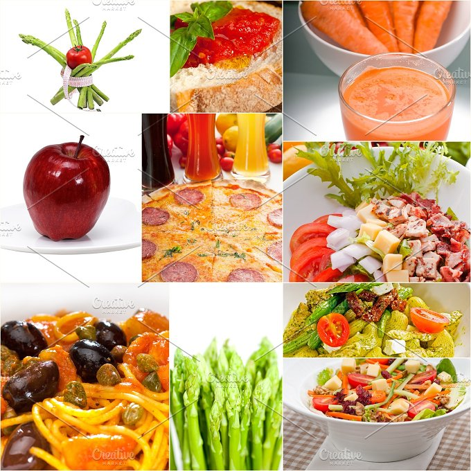 vegetarian food collage 4.jpg - Food & Drink