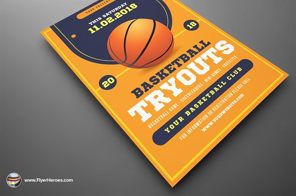 basketball tryouts flyer template flyer templates creative daddy