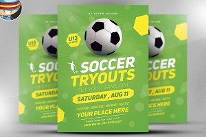 Soccer Tryouts Flyer Template