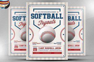 Softball Tryouts Flyer Template