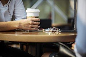 Women enjoying some morning coffee