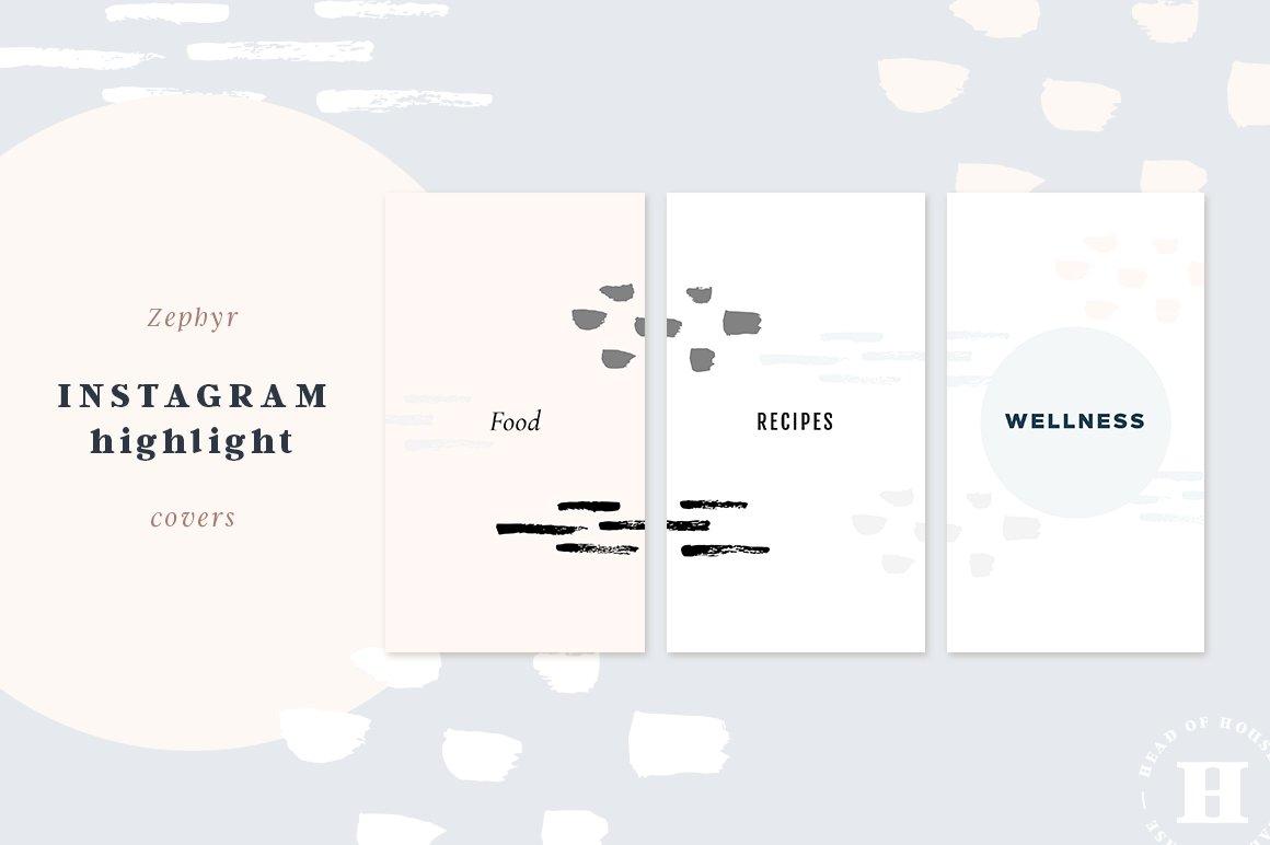 zephyr instagram highlight covers patterns creative market. Black Bedroom Furniture Sets. Home Design Ideas