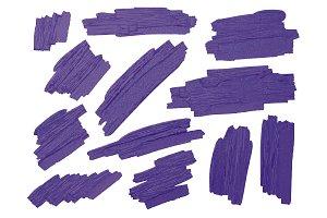 Violet brush stoke