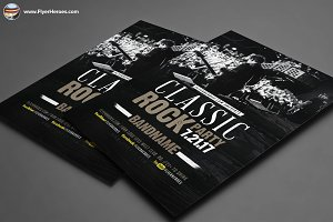 Classic Rock Bands Flyer Template V2