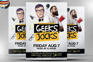 Geeks & Jocks Flyer Template