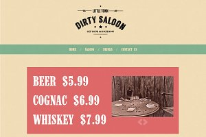 Dirty Saloon - A Cowboy Template
