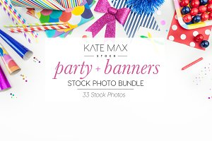 Party + Banners Stock Photo Bundle