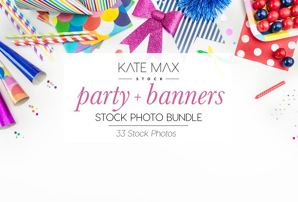 Party Banners Stock Photo Bundle