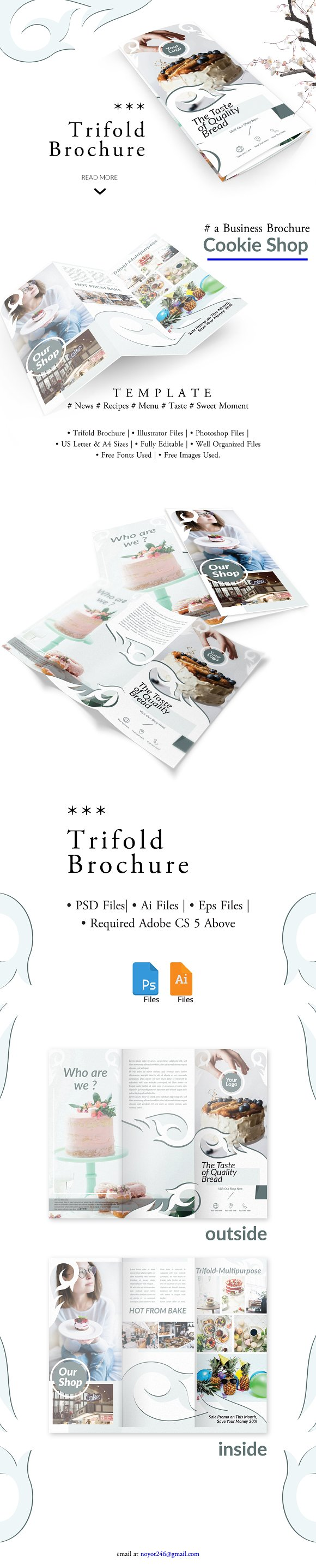 COOKIE Business Trifold Brochure