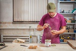 Carpenter paint wooden