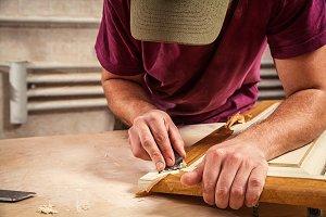 Carpenter  restoring door