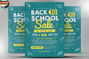 Back to School Sale Flyer Template V