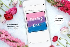 Spring Sale Instagram Animation