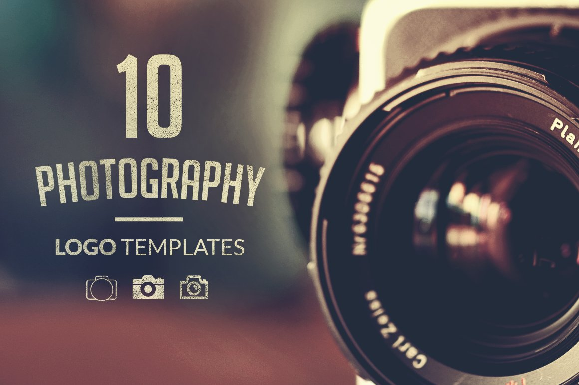 Free Poshop Templates For Pographers | 10 Photography Logo Templates Logo Templates Creative Market