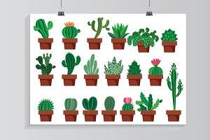 Cactus set.