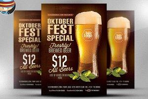 OktoberFest Drink Flyer Template V1