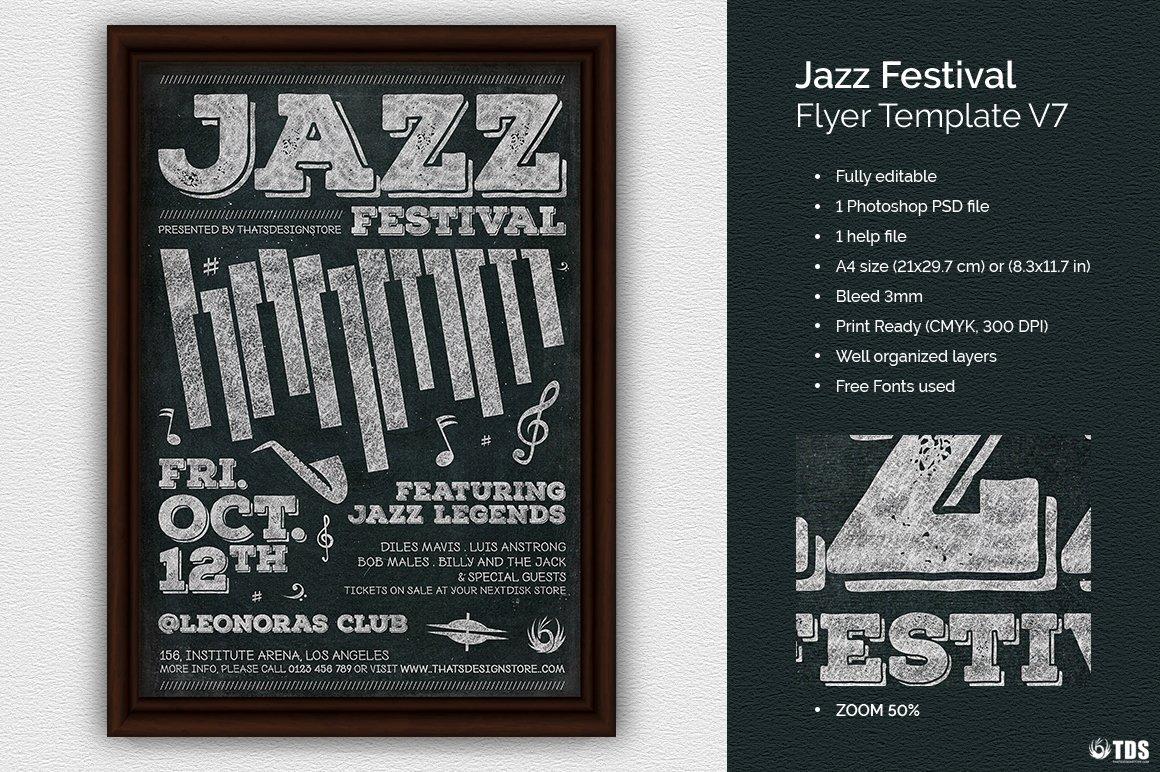 Jazz Festival Flyer Template V7 ~ Flyer Templates ~ Creative Market