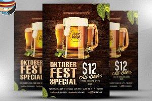 OktoberFest Drink Flyer Template V2