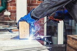 Man weld metal