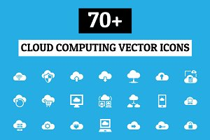 70+ Cloud Computing Vector Icons