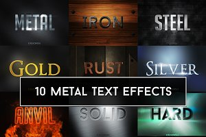 Metallic Text Effects