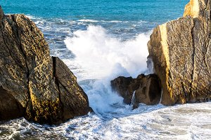 Waves at cantabrian coast
