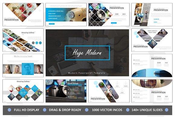 huge modern powerpoint presentation templates creative market
