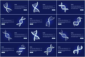 DNA Collection of Web Pages Vector Illustration