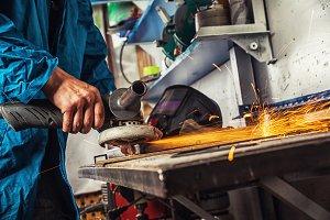 Carpenter grinder metal